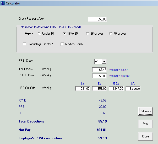 calculator documentation thesaurus payroll manager ireland