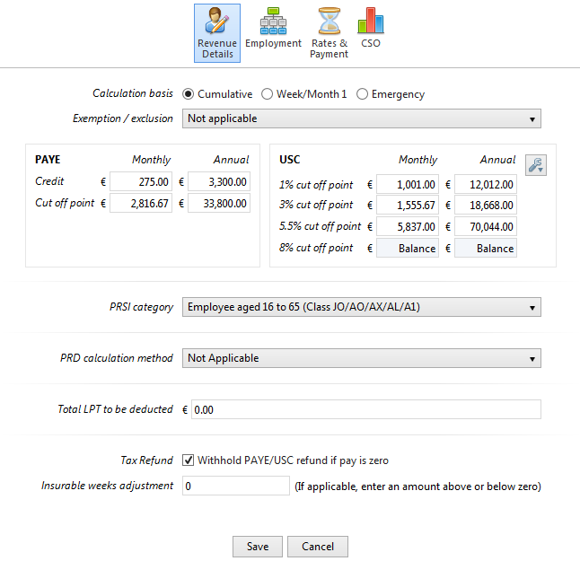 ... An U0027Editu0027 Button Is Available On The Employeeu0027s Payslip. Settings Which  Can Be Edited Within This Screen Are The Employeeu0027s Revenue Details, ...  Monthly Pay Slip