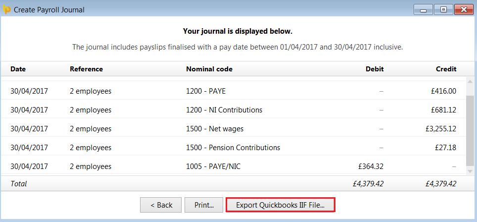 Quickbooks - BrightPay Documentation
