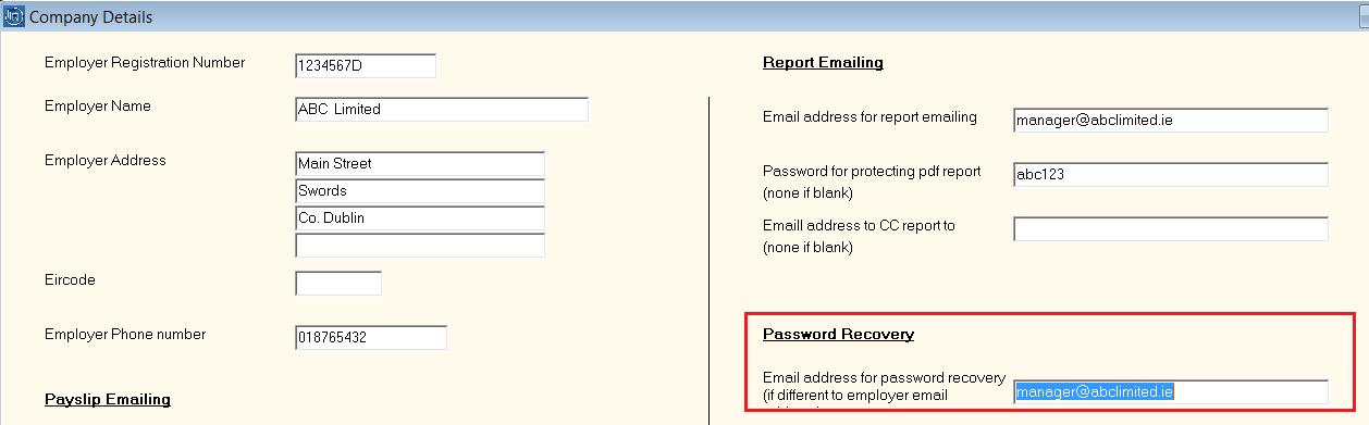 Forgotten your password? - Documentation - Thesaurus Payroll