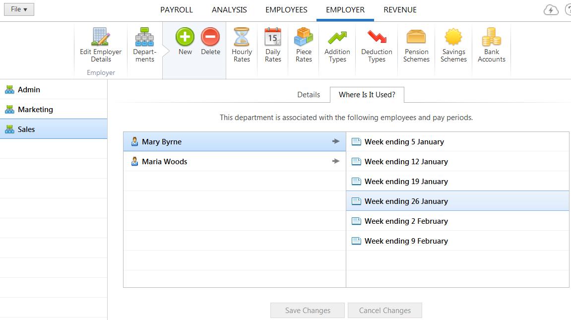 Adding/ Amending Departments - BrightPay Documentation