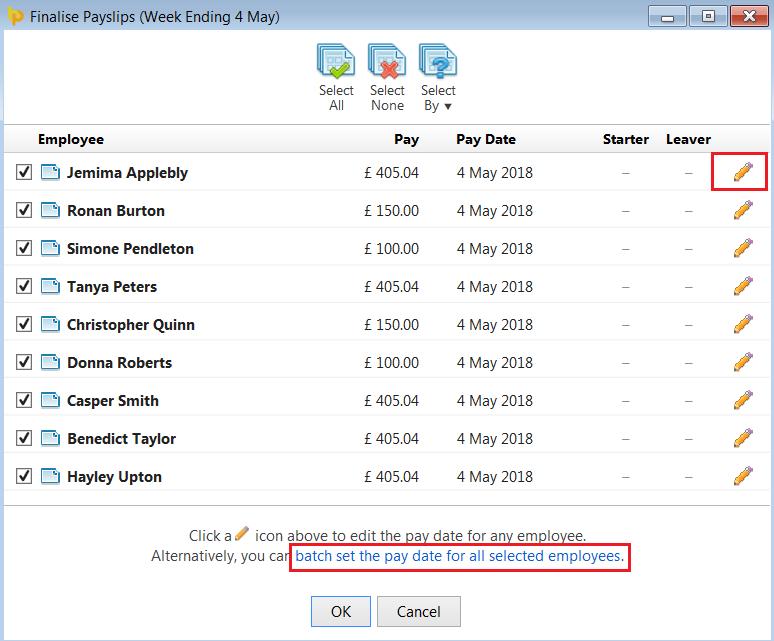 Finalising Payslips - BrightPay Documentation