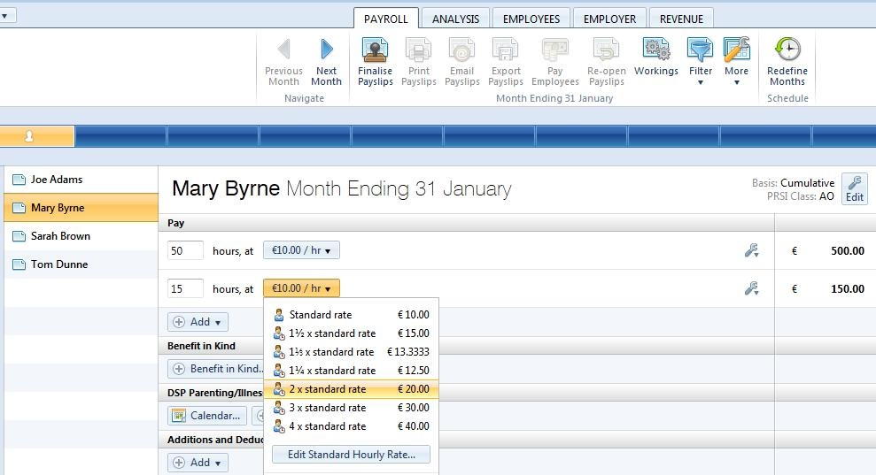 processing monthly payroll brightpay documentation