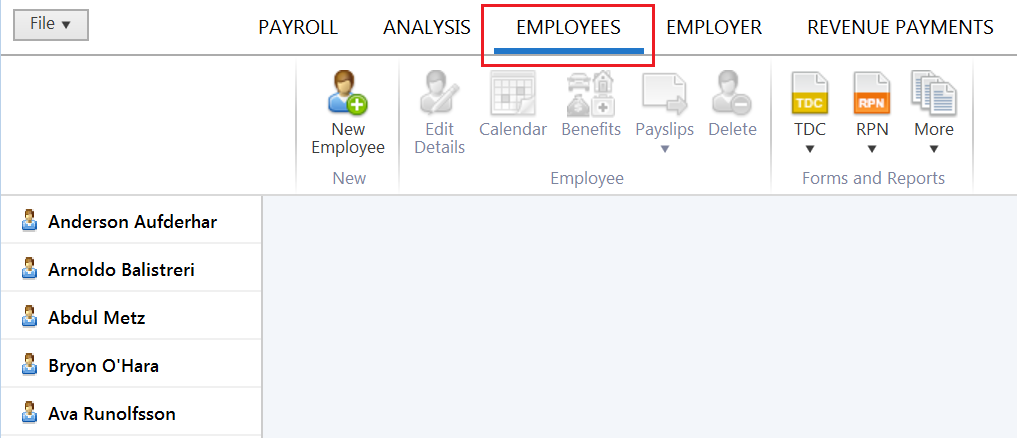Setting up Employees using the RPN - BrightPay Documentation