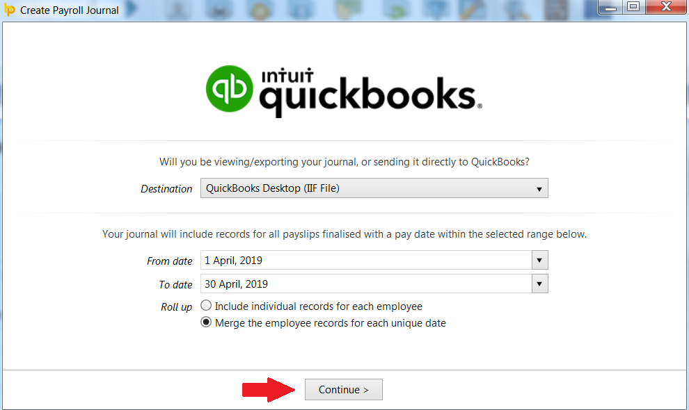 Quickbooks (Desktop version) - CSV upload - BrightPay