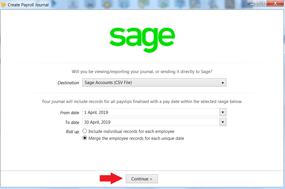 Sage Accounts - CSV upload - BrightPay Documentation