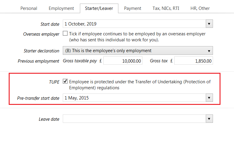 Setting Up A New Employee Mid Year Brightpay Documentation