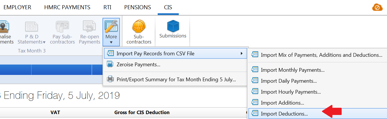 Importing Deductions using CSV file - BrightPay Documentation