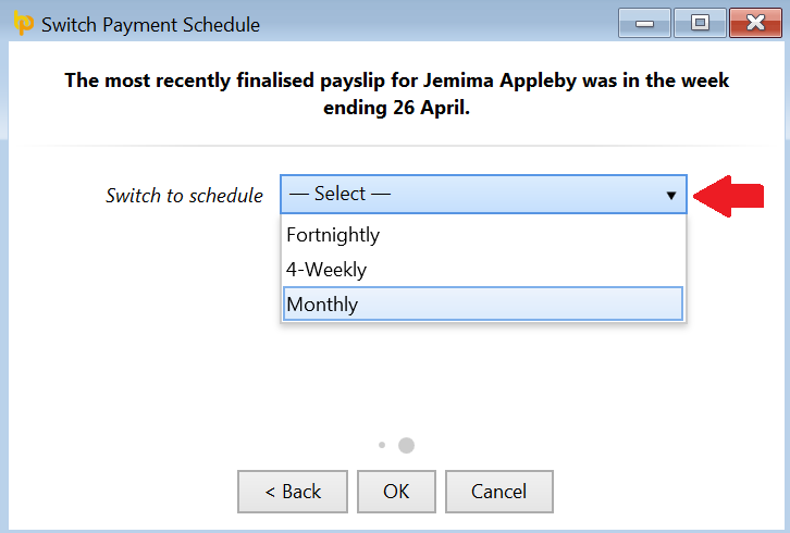 Switching an Employee's Pay Frequency - BrightPay Documentation