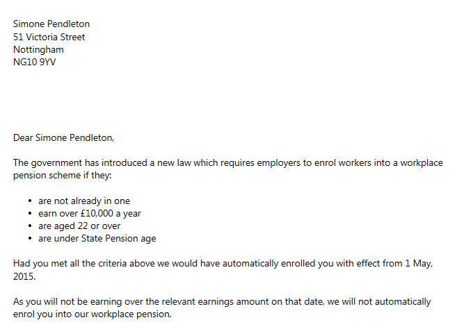 Pension Request Letter Format