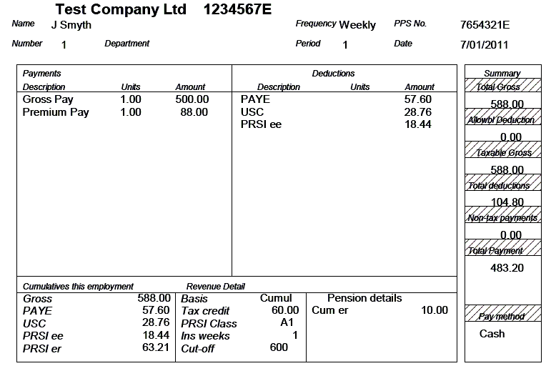 Example Of Feature Payslip: Graphic  Example Payslip
